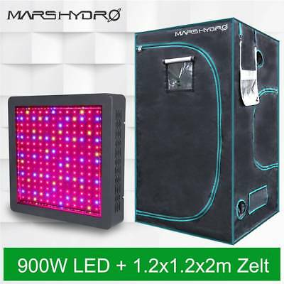 Mars II 900W Led Grow Lights +1.2X1.2x2m Indoor Grow Zelt Tent Room Indoor Plant