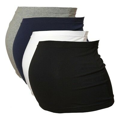 Maternity Belly Band/Bump Band by Harry Duley. Black, White, Navy & Grey. 4 Pack