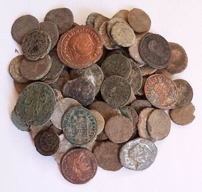 1,Lot of 90 Roman coins for cleaning
