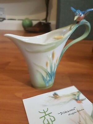 Rare FRANZ PORCELAIN KINGFISHER Cream/Milk Jug Boxed and Complete