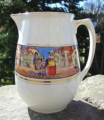 Vintage Crown Ducal Cries Of London Large Jug - Bright Colours - Good Condition
