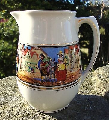Vintage Crown Ducal Cries Of London Jug - Brightly Coloured - Good Condition
