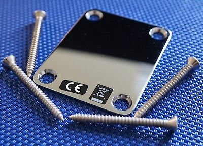 Fender American Special Telecaster Tele NECK PLATE Stratocaster Strat Chrome