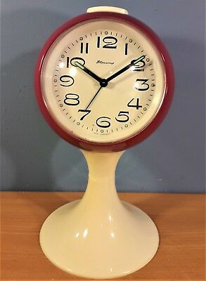 Vintage West German BLESSING Space Age Desk Mantle Alarm Clock
