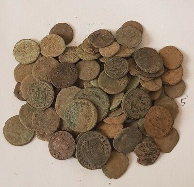 5.Lot of 90 Roman coins for cleaning