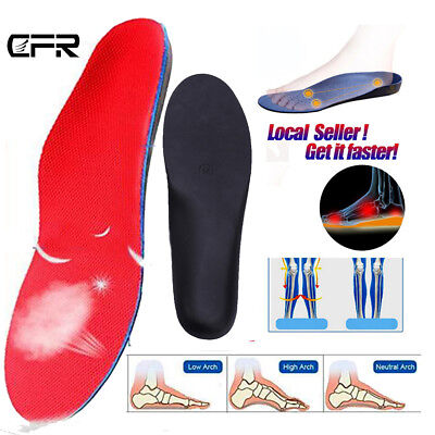 Unisex Premium Orthotic Shoes Insole Insert Flat Feet Foot High Arch Support Pad