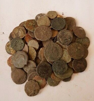 7,Lot of 90 Roman coins for cleaning