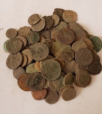 10,Lot of 90 Roman coins for cleaning