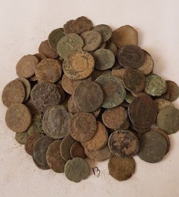 13,Lot of 90 Roman coins for cleaning
