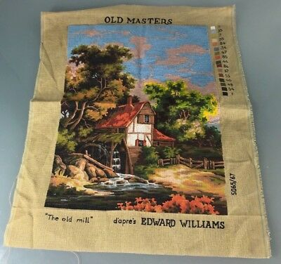 Tapestry Canvas by Twilleys of Stamford The Old Mill - part done