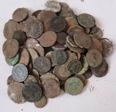 16,Lot of 90 Roman coins for cleaning