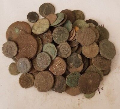 17,Lot of 90 Roman coins for cleaning