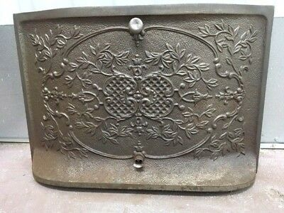 Antique Cast Iron Fireplace Cover Oval Vines ***sale***