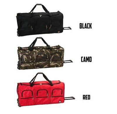 Bag Duffle Luggage Travel Tote Shoulder Handbag Hand Rolling Wheeled Bags 40 in