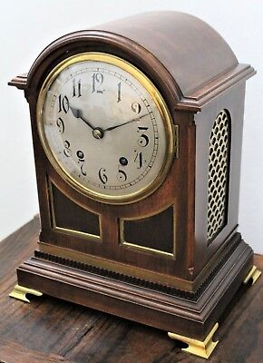 Excellent Original W&h Quarter Strike Bracket Clock Mahogany Case