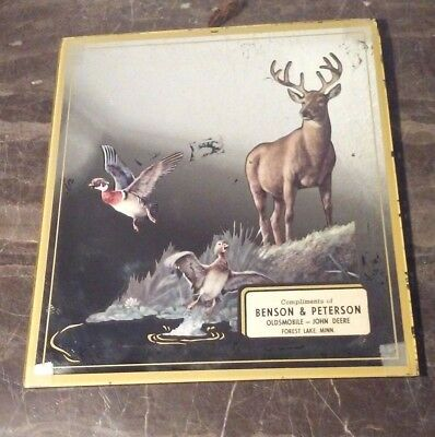 1950S Benson Peterson Oldsmobile John Deere Collectible Mirror Forest City Mn
