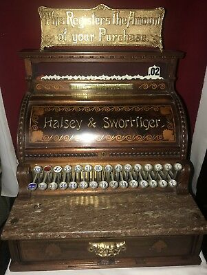"STUNNING VERY VERY RARE Old 1891 National Mdl No. 4 ""WODDIE"" Cash Register"