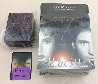 X-Files CCG Premiere Factory Sealed Starter Deck box 12 - 60 Card Deck + More