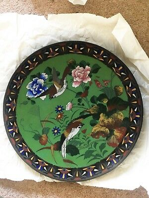Meiji period Japanese Cloisonne Charger Plate 31 cm
