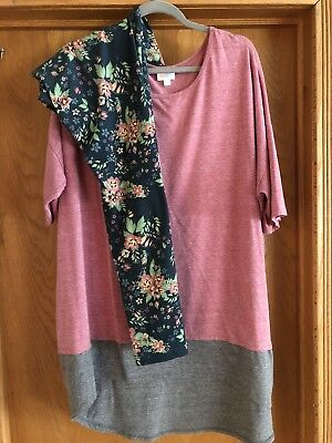 Lularoe Irma and leggings Outfit 2XL/TC Heathered Pink