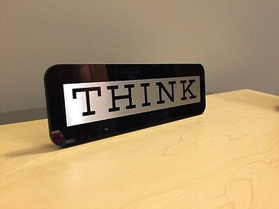 IBM THINK SIGN PLAQUE - IBM Computer Desk Accessory Executive Gift Collectible