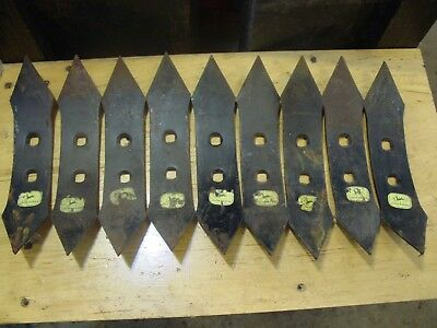 9 New Old Stock NOS John Deere 763 Cultivator Plow Shovel 10 1/4 X 2 Slight Rust