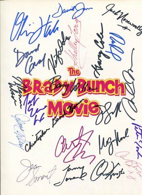 THE MONKEES cast of 22 THE BRADY BUNCH autographed HAND SIGNED 3328
