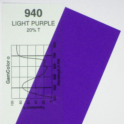 GAM  #940 Light Purple gel color media filter sheet