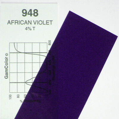 GAM  #948 African Violet gel color media filter sheet