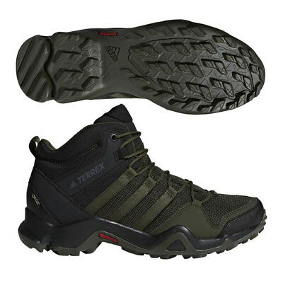 check out 26e96 f6f07 Adidas Mens Outdoor Terrex AX2R Mid GTX Night Cargo  Black Shoes - AC8036