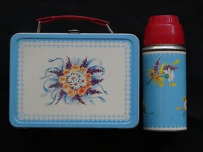 Corsage (Blue) Metal Lunchbox with Thermos