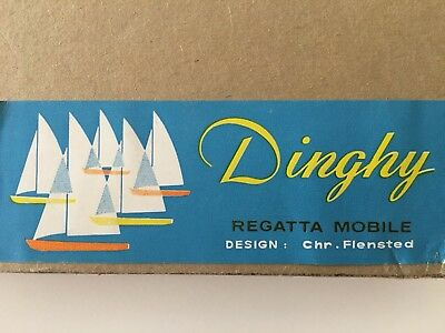 NEW Deadstock Vintage Flensted Dinghy Boat Ship Mobile Box Nautical Kinetic Art
