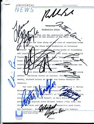 10 HOLLYWOOD SIGNATURES autographed HAND SIGNED 3361