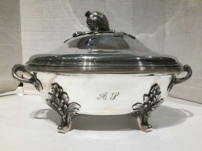 Sterling Silver Soup Toureen Chafing Dish Jean Emile Puiforcat