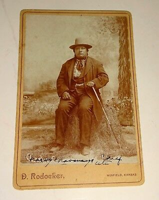 1880s Cabinet Image UTE Chief Buckskin Charley by Dave Rodocker