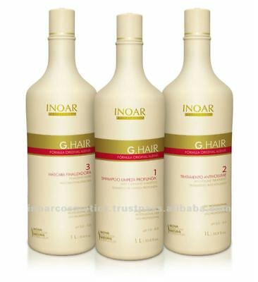 LISSAGE BRESILIEN INOAR KIT GHAIR GERMAN 3 STEP X 1 Litre