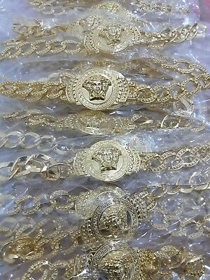 25x Joblot Wholasale 18K GOLD PLATED MEDUSA BRACELET