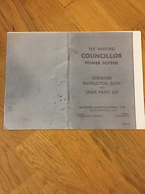 Barford Councillor Power Scythe Allen Mayfield Instruction Book List Off Parts