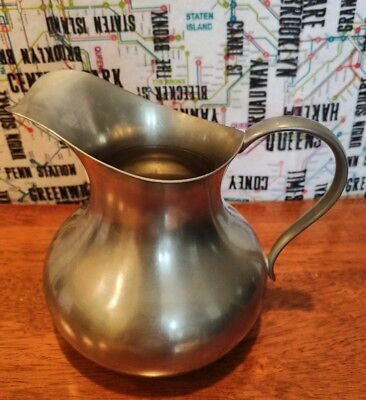 "Vintage Small Pewter Pitcher 5"" Tall KMD Daaldrop Royal Holland"