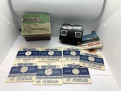 Vintage 1950's lot of Viewmaster Viewer With 7 Reels.