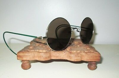 Antique WILLSON Smoky Sunglasses Spectacles Safety VTG Retro STEAMPUNK Lennon W