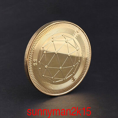 QTUM Golden Quantum Storage Commemorative Coin Collection Art  Souvenir Gift