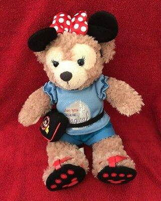 Disney Parks Shellie May Duffy Bear Plush~Minnie Mouse Disney Parks Outfit~New
