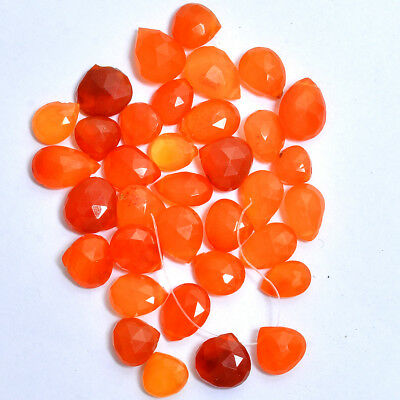 75 Ct/35 Pcs 100% Natural Top Quality Carnelian Pear Drops Drilled Briolettes