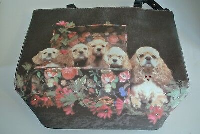 C. Marie Collection Cocker Spaniels with Flowers Purse
