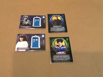 Topps Doctor Who Trading Card Lot Autograph Tardis Patch Cards