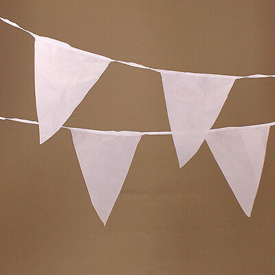 White Triangle Bunting Flags Wedding Event Bridal Formal Party Decoration