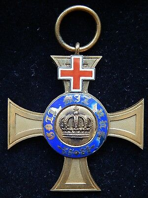 Original Prussian Order of the Crown w/ Geneva Cross (Red Cross) 4th Class~No Rs