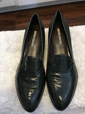 Via Spiga Womens Dark Green Leather Loafers Size 10 M