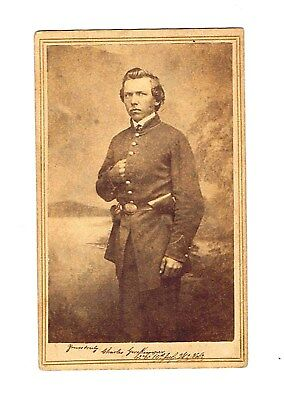 Civil War Cdv Armed.signed And Unit Id 10Th Infantry Wisconsin Volunteers